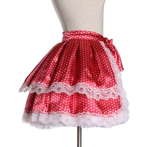 Strawberry Shortcake Tie Around Bustle Skirt  by frenzyuniverse, $70.00