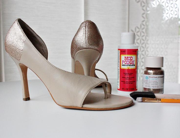 love: DIY glitter shoes