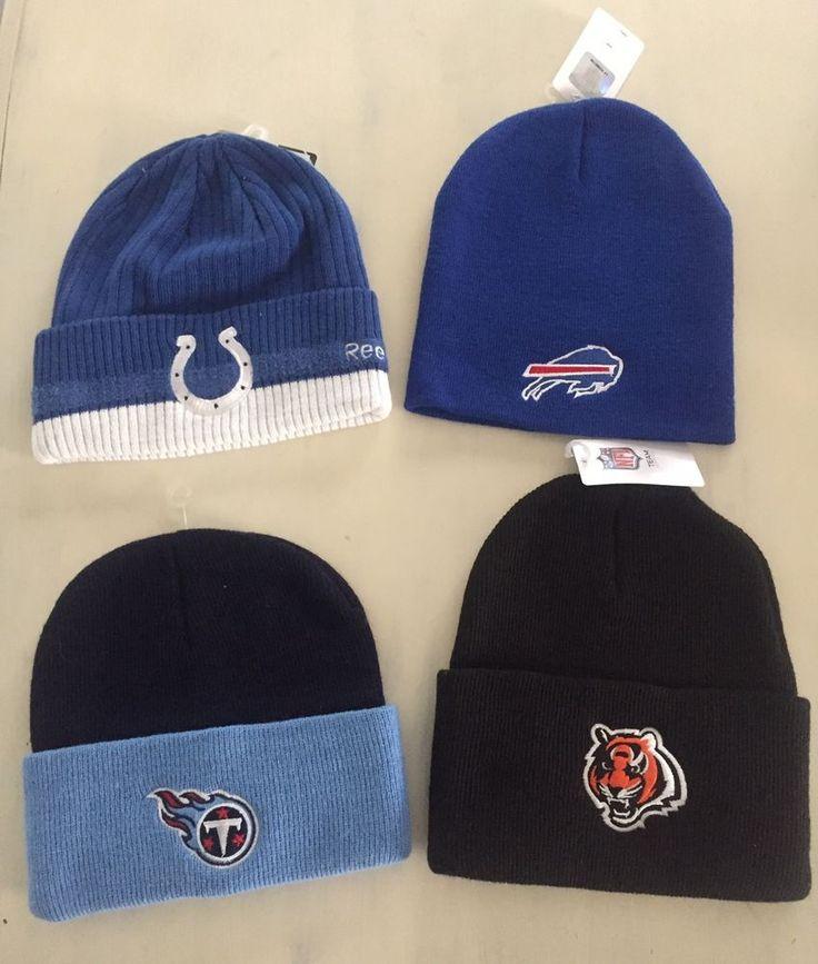 New NFL Team Apparel Football Knit Ski Hat Titans Bengals Colts Bills Knit Cap #NFLReebok