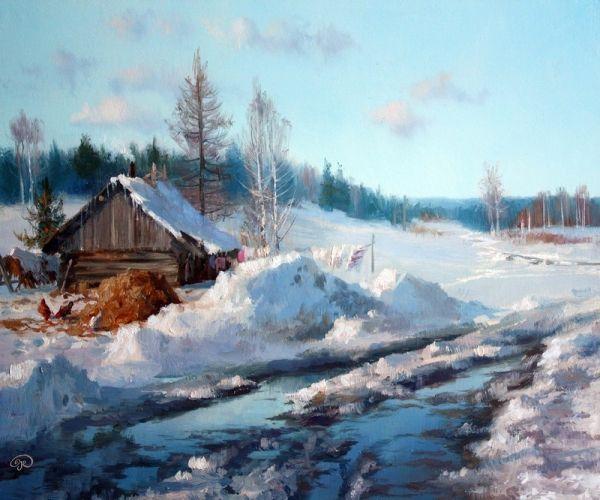 by Russian Siberian landscape painter, Vladimir Zhdanov
