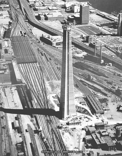 """oldcanada:  Toronto, ON  September 29, 1973 Construction of the CN Tower  """
