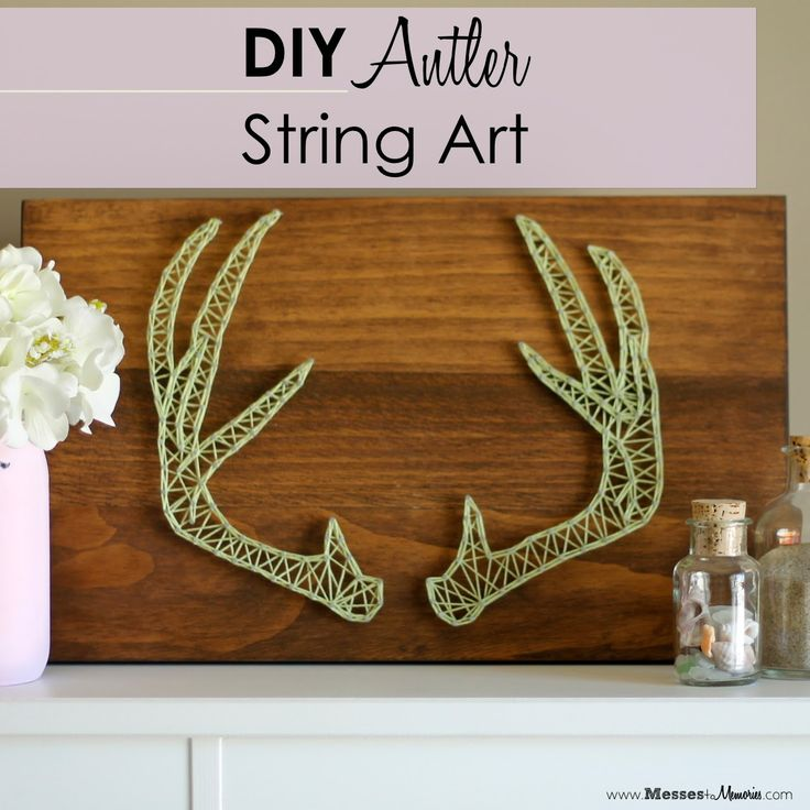 messestomemories diy antler string art diy craft. Black Bedroom Furniture Sets. Home Design Ideas