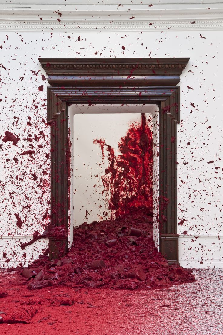Anish Kapoor - red wax  One day I will have time for a hobby, and I think I will make dollhouses. Haunted ones.