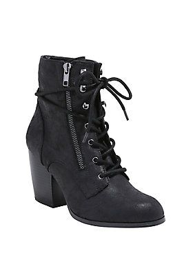 Hot Topic White Chunky Lace Up Shoes