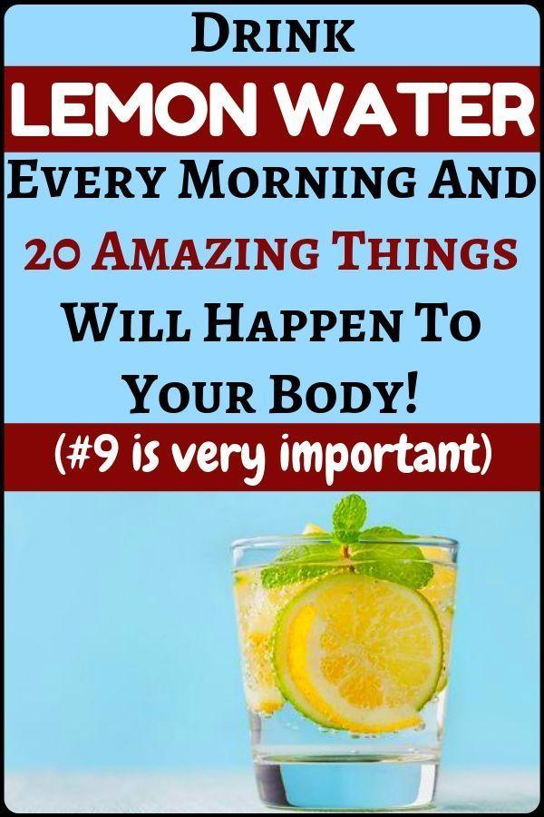 Trinken Sie jeden Morgen warmes Entgiftungs-Zitronenwasser und