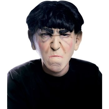 The Three Stooges Moe Mask Adult: http://www.myhalloweencostumes.com/the-three-stooges-moe-mask-adult.php - Includes one mask. This is an officially licensed The Three Stooges product.