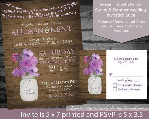 1000 images about Fall – Mason Jar Wedding Invites