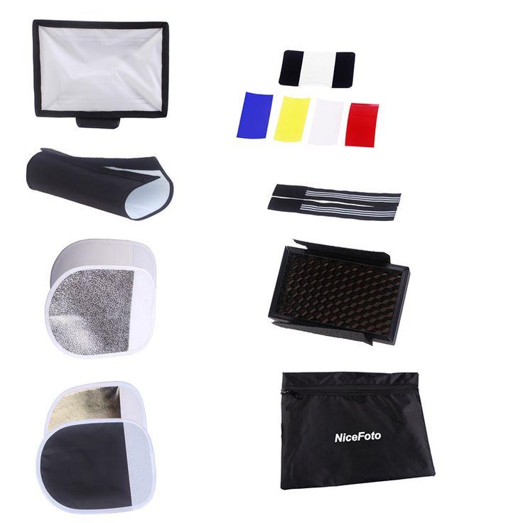 Комплект насадок NiceFoto KT-801 для накамерных вспышек