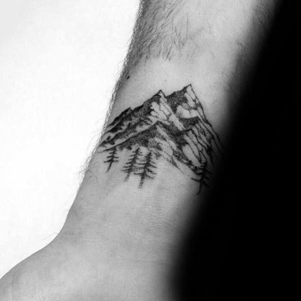 Top 47 Minimalist Mountain Tattoo Ideas 2020 Inspiration Guide
