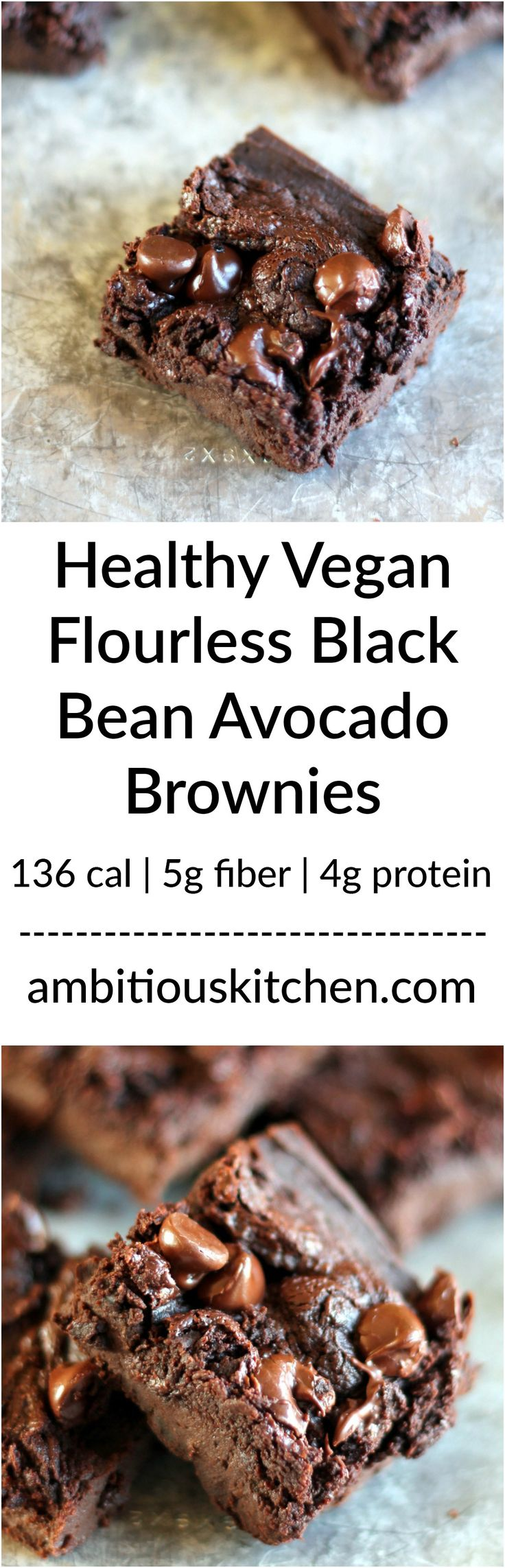 Delicious fudgy and healthy brownies made with black beans and avocados. Sounds weird, tastes awesome! Gluten free and vegan.