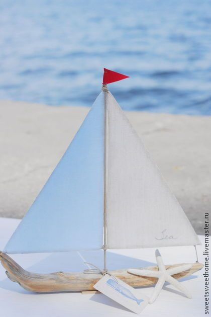 Парусник - голубой,кораблик,море,морской стиль,морская тематика,морская тема
