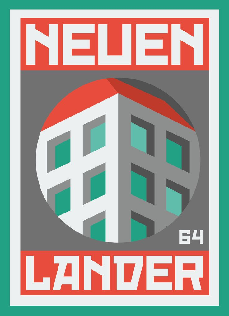 """""""NEUENLANDER 003"""" poster series, dedicated to the place, Neuenlanderstrasse 64, where I'm living during my Bremen stay. #graphicdesign #illustration"""