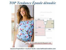 Pourquoi Acheter ! Créer votre top Bardot Cousu main avec un tuto gratuit pour faire un top bohème aux épaules dénudées, facile à coudre 2 carrés et 2 rectangles, effet garanti classe et féminin