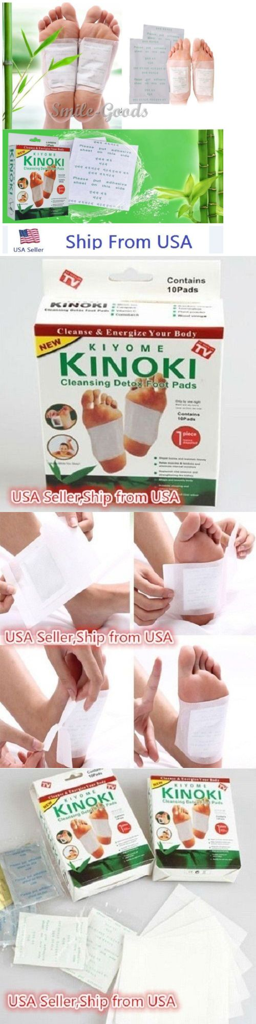 Detox Pads: Kinoki Herbal Detox Foot Pads Detoxification Cleansing Patches Usa Shipping BUY IT NOW ONLY: $105.33
