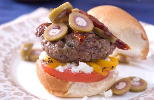 Lamb Burgers with Feta Stuffed Olives | Burgers, Dogs & Sliders | Pin ...