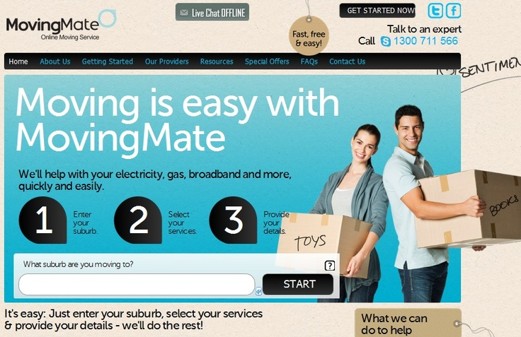 http://movingmate.com.au/ MovingMate is a free, no obligation,  and convenient 'one stop shop' service for home movers. It is designed  to reduce the stress and time involved in moving home.