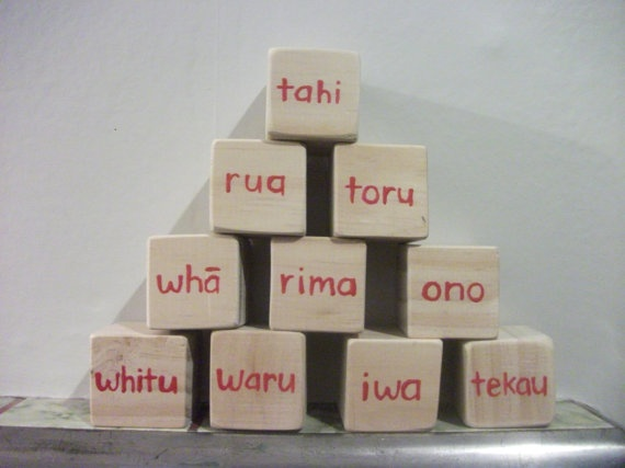 Maori Counting Building Blocks