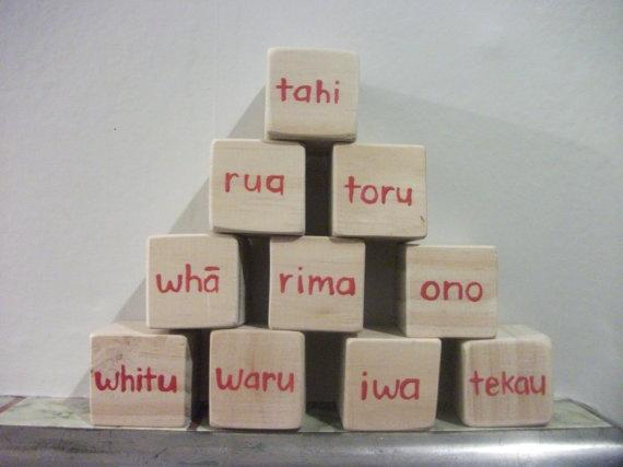 Maori counting blocks