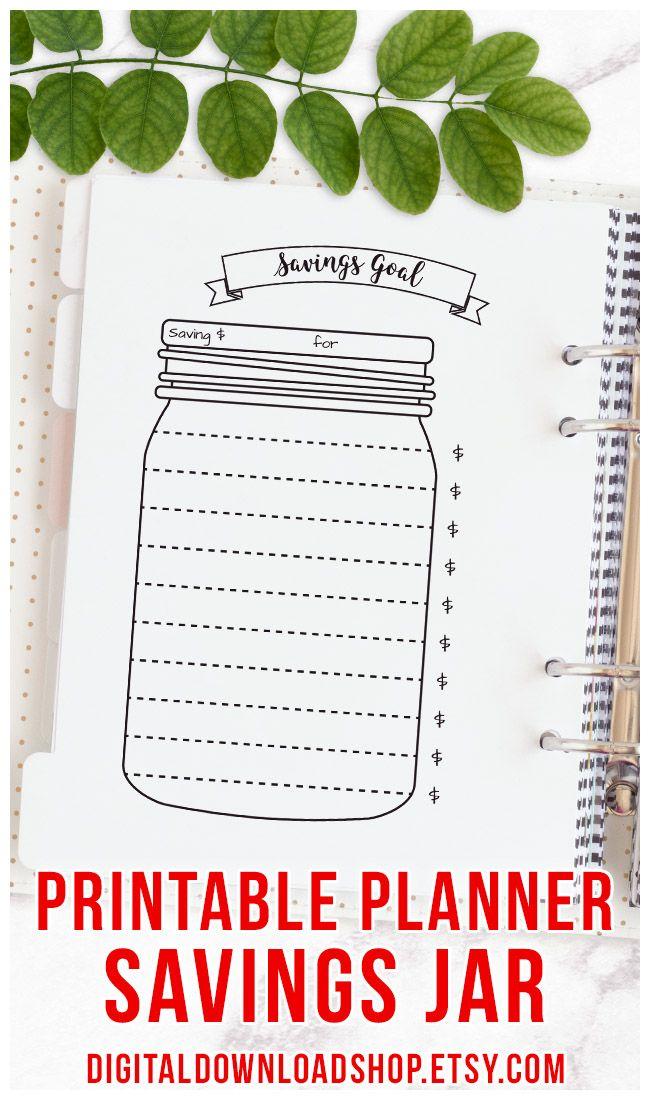 image about Savings Jar Printable identify Bullet Magazine Discounts Jar Printable, Mason Jar Discounts