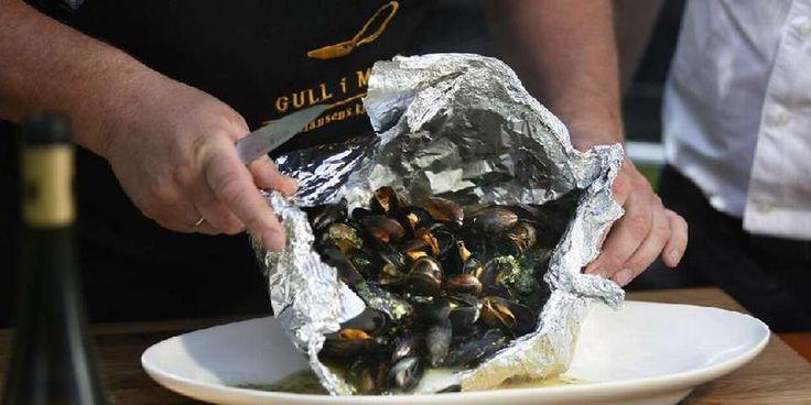 grilling av fisk og skalldyr - Spise