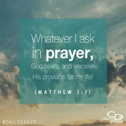 Asking in Prayer from the book of Matthew.