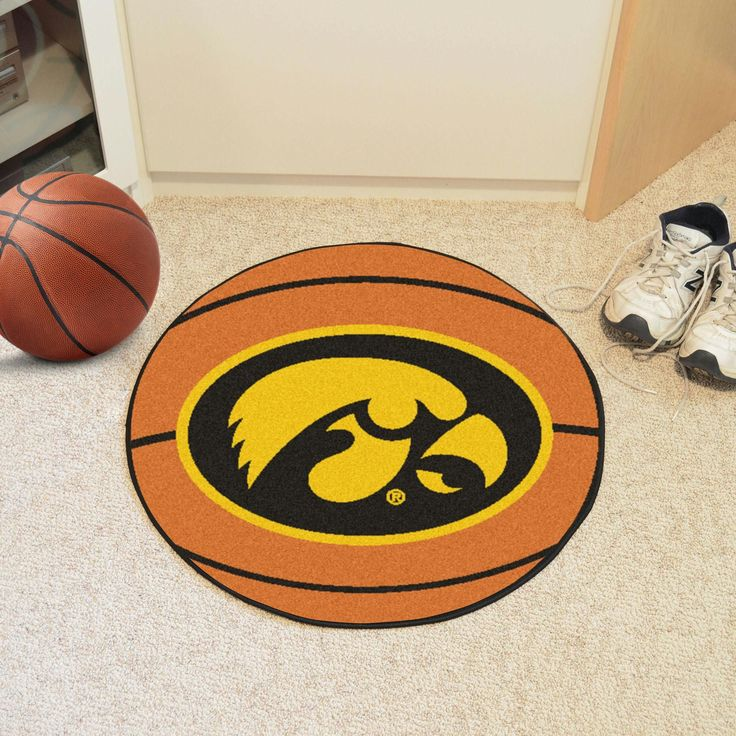 University of Iowa Basketball Mat 27 diameter