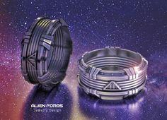 Star wars ring, darth vader ring, geek wedding ring, geek mens, sci fi ring, nerd ring, space ring, cyberpunk