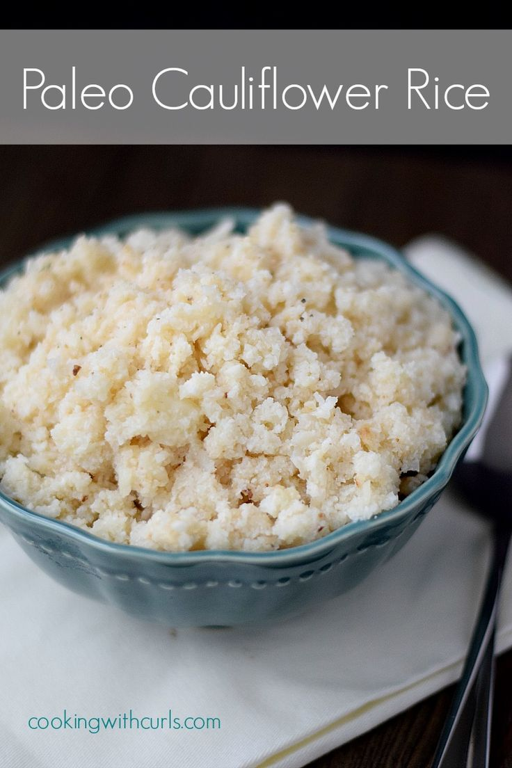 MADE THIS TONIGHT!!!! AMAZING!!! Paleo Cauliflower Rice | cookingwithcurls | #paleo #healthyrecipe #cleaneating