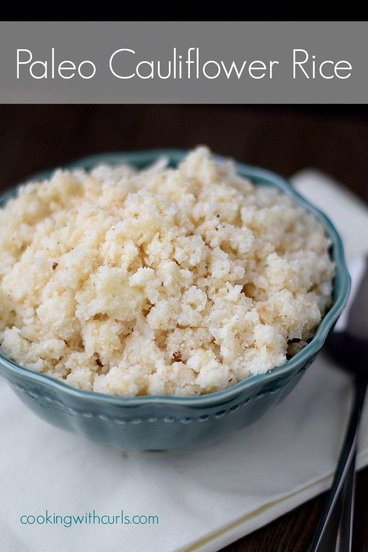 Paleo Cauliflower Rice | cookingwithcurls | #paleo  #healthyrecipe  #cleaneating