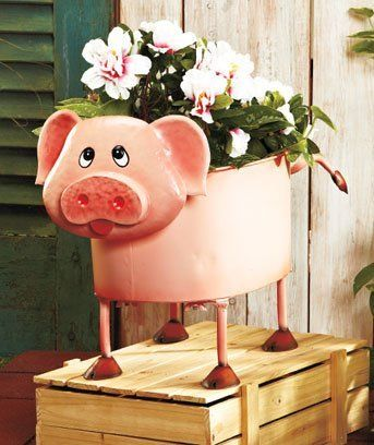 108 best images about when pigs fly country cottage on for Pig decorations for home