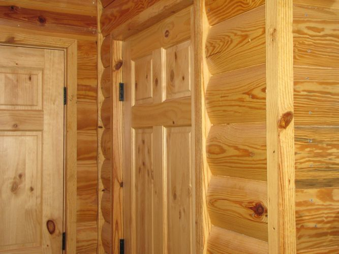 paneling for walls | ... Pine Log Cabin Siding, Log Cabin Paneling - Southern Wood Specialties