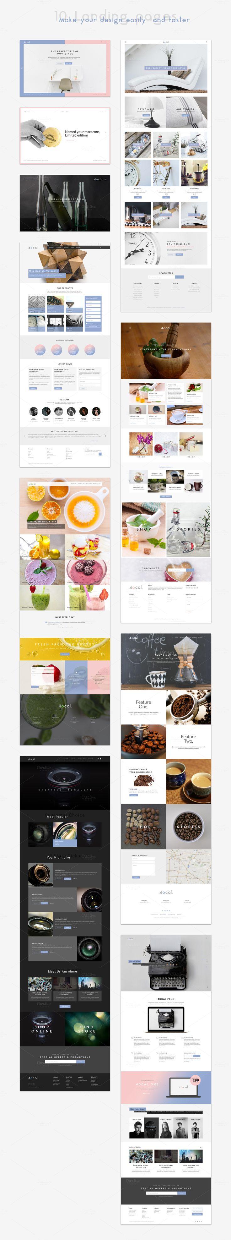 4ocal Web UI Kit for Sketch by 4EB Studio on @creativemarket