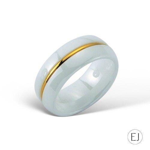 Tek Sıra Altın / Beyaz Seramik Yüzük EJ4024 #elijahjewels #ring #rose #gold #thin #pembealtin #yuzuk #14k #zarif #istanbul #grandbazaar #design #style #fashion #jewellery #jewel #jewelry #whitegold #love #takı #mücevher #pırlanta #seramik #ceramic #white