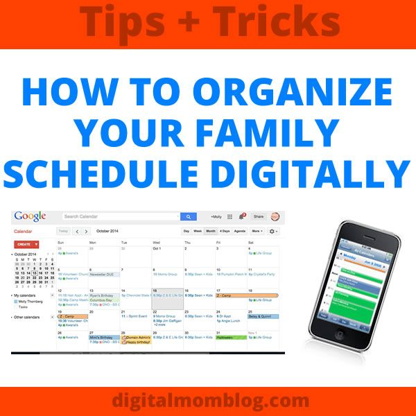 Kids and Technology - Let's talk keeping your family schedules organized digitally. With four kids, life is never a bore. Two are toddlers and not even in Read more on Digital Mom Blog.