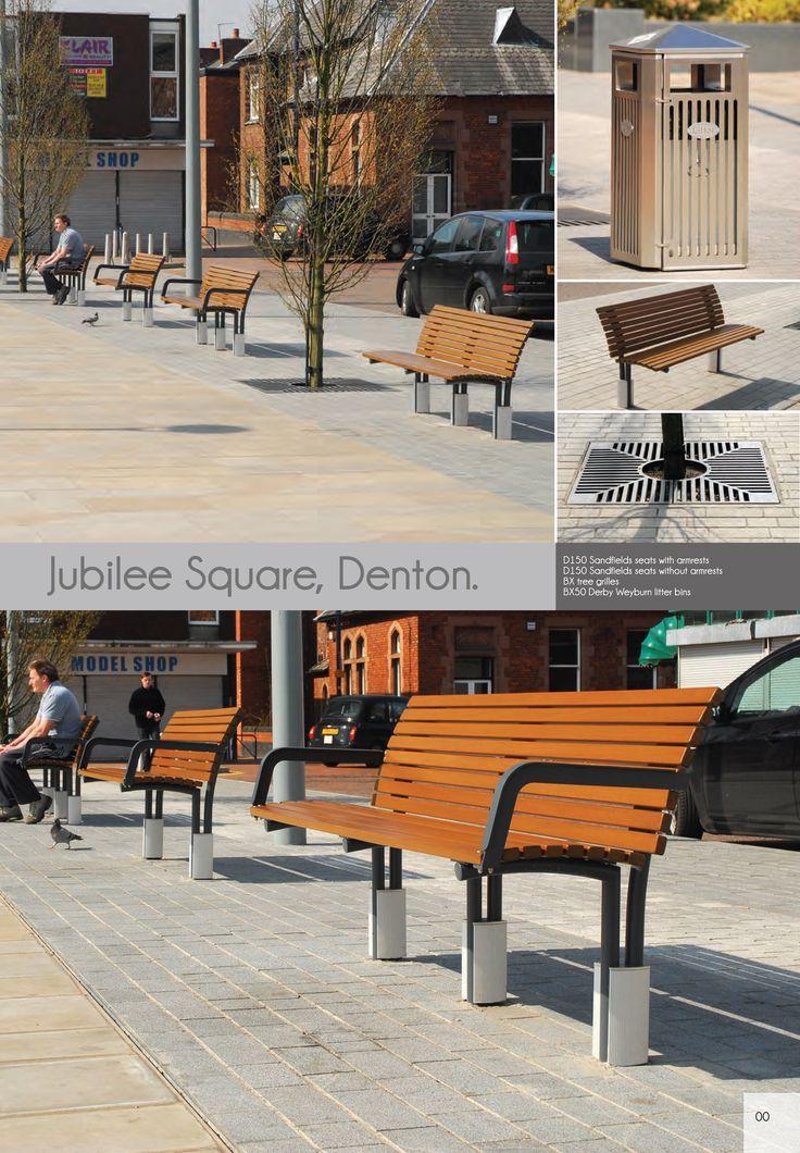 Jubilee Square, Denton | Street Furniture | Sandfields Seats, Tree Grilles,  Derby Weyburn