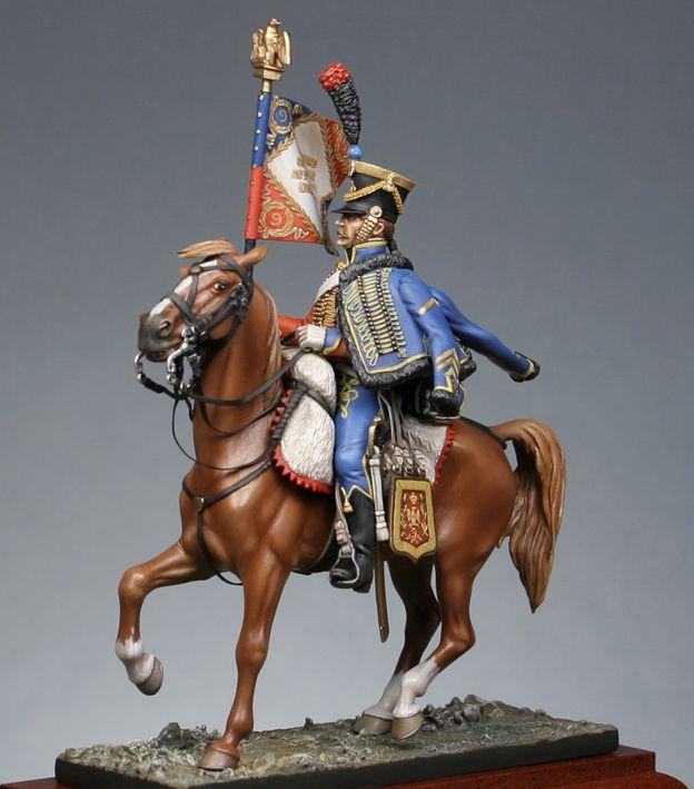 Light cavalry : Standard bearer of 9e regt. hussar 1809