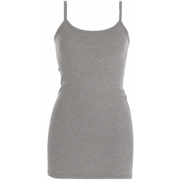 BKE Extra Long & Lean Tank Top - Grey X-Small ($14) ❤ liked on Polyvore featuring tops, grey, extra long tank tops, low top, extra-long tank tops, gray top and extra long tank