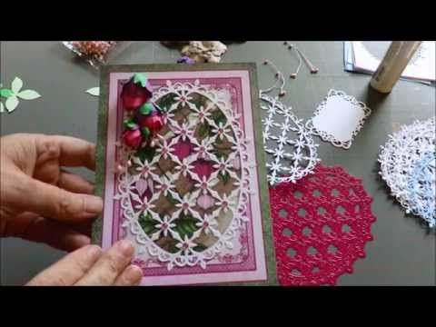 Tutorial How to Make Cascading Fuchsia and Heartfelt Creations Cards - YouTube