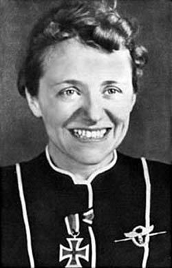 Hanna Reitsch  the first female stunt pilot and test pilot in aviation history.
