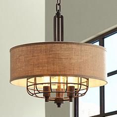 """Franklin Iron Works® Tremont 20"""" Wide Rust Pendant"""