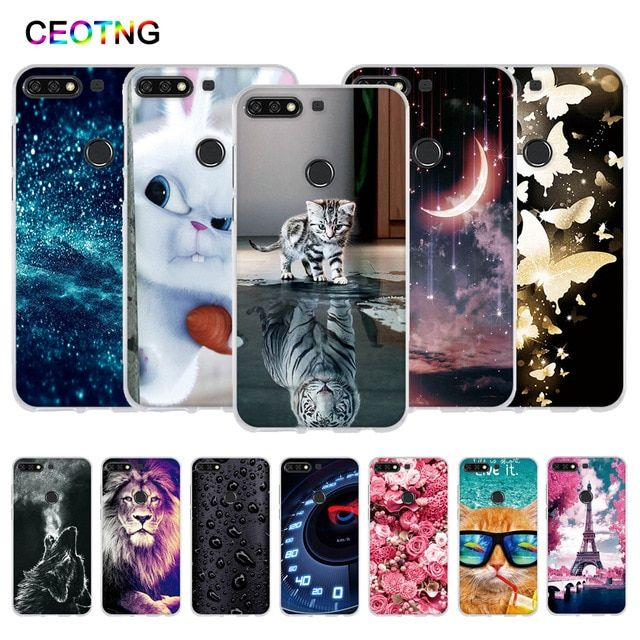 Tpu Case For Huawei Y7 Prime 2018 Case Painted Silicone Cover For Huawei Y7 2018 Funda For Huawei Y7 Pro 2018 Phone Cases Revie Phone Cases Silicone Cover Case