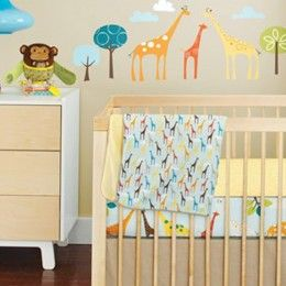Perfect for your little monkey? Safari-themed jungle nursery decor! #allthingsanimal @BabyZone