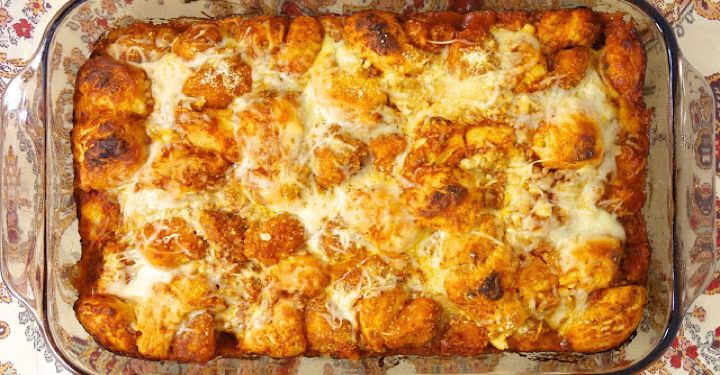 Chef John's fantastic Chicken Parm Casserole Recipe. It's a little bit different from what we are use to, but believe me, this recipe is just perfect.