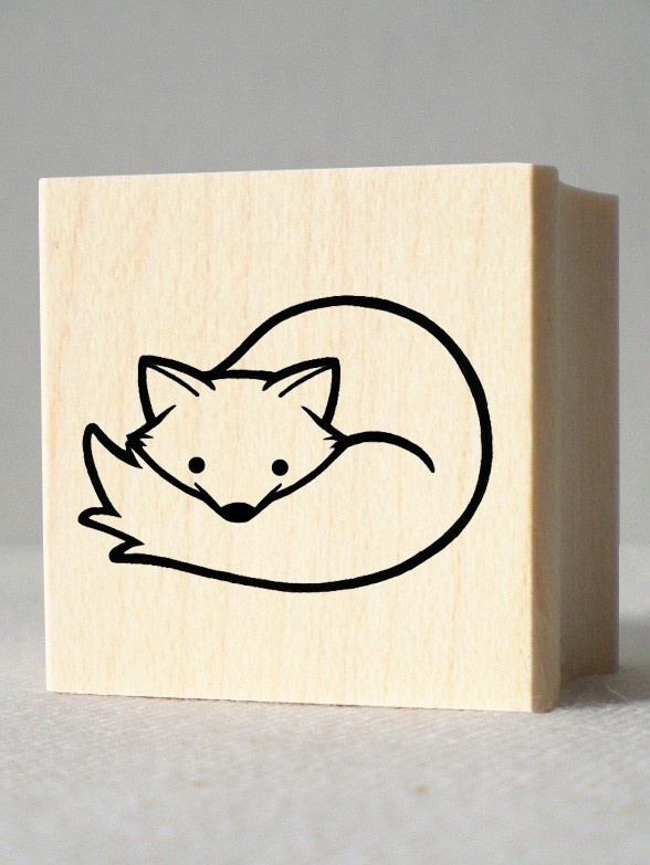 Arctic Fox Rubber Stamp. $5.00, via Etsy.