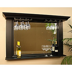 @Overstock - Add style and functionality to your bar area with this attractive back bar mirror with antique black finish. Featuring a stemware rack and a display ledge large enough to accommodate several bottles, the mirror is appropriate for gift giving.http://www.overstock.com/Home-Garden/Elliott-Mirror-and-Display/5149580/product.html?CID=214117 $507.99