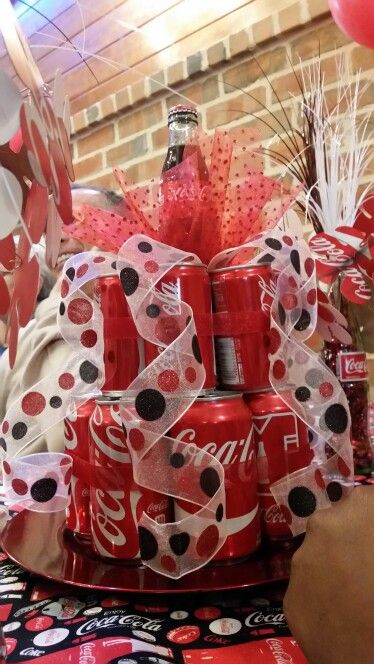 Coca Cola Decorations idea! Great for a Coke themed party.