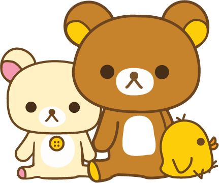 Rilakkuma - A brown bear who is friends with, a cream colored bear named (I think) Korilakkuma, and a yellow chick.