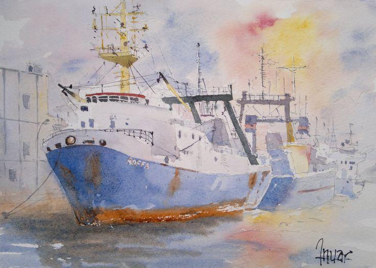 Barco al amanecer