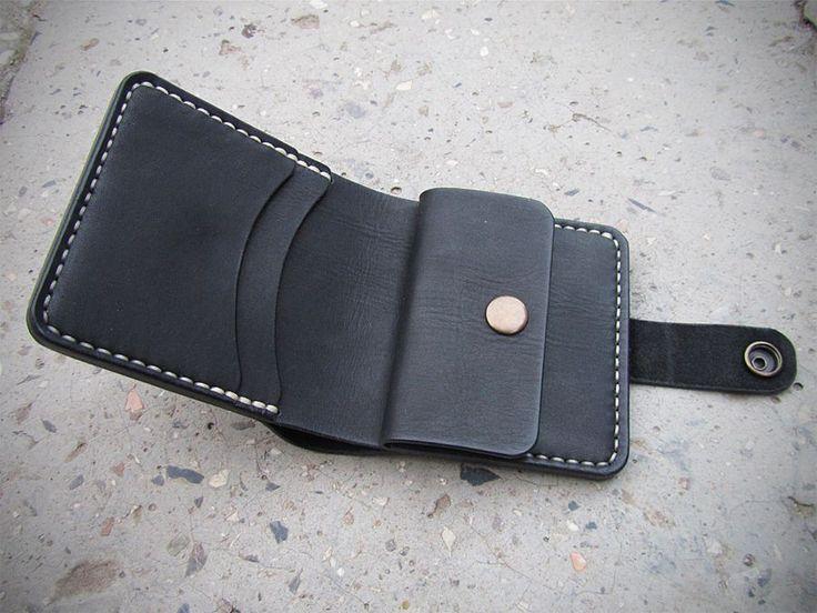 Кошелек мужской портмоне из натуральной кожи ручной работы