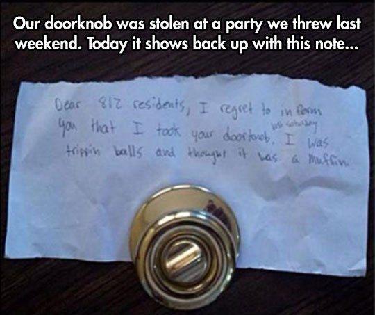 Stolen Doorknob (Don't Do Drugs!)